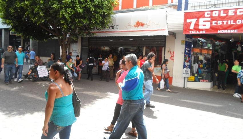 The Avenida Central (Bulevar), downtown San José.