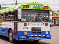 The bus service from San Jose to Grecia is easy, inexpensive, and runs every 20 minutes during peak times.