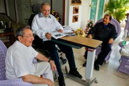 In the undated photo, Fidel, Raul and Daniel.