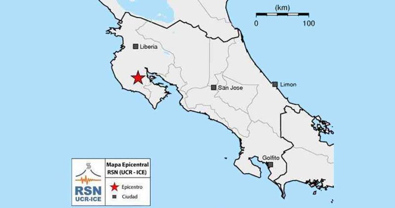 Recent Seismic Activity in Nicoya Unrelated to 2012 Earthquake