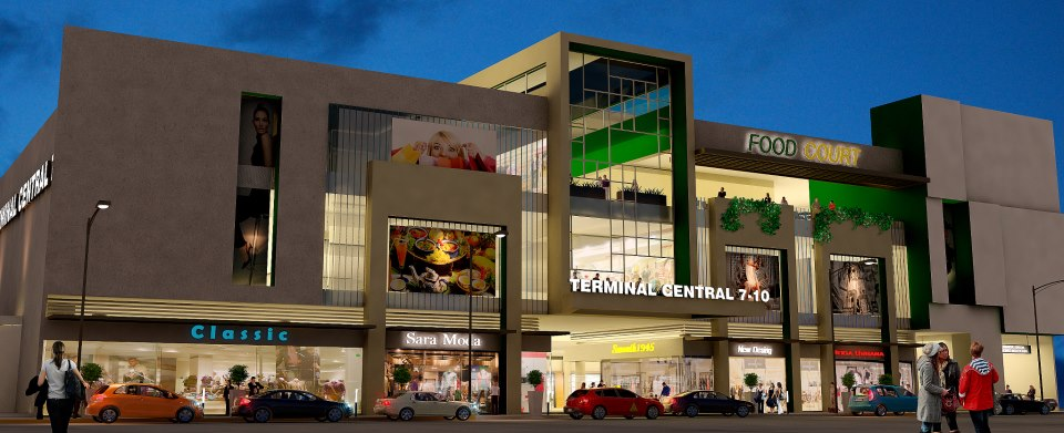Artist rendering of the new bus terminal to be located in San José  at Calle 7 and Avenida 10