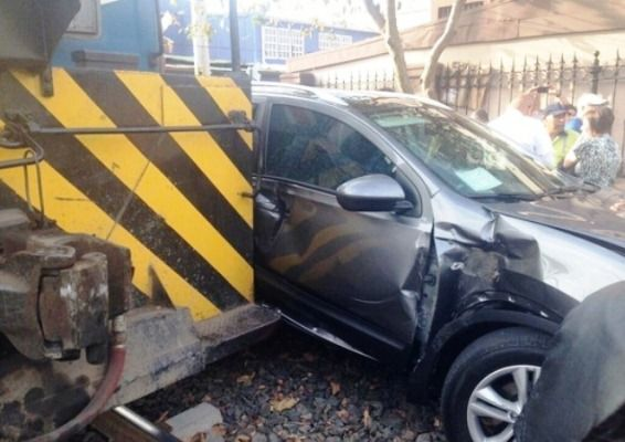 The conventional train motor machines suffer relatively little damage in collisions with vehicles.
