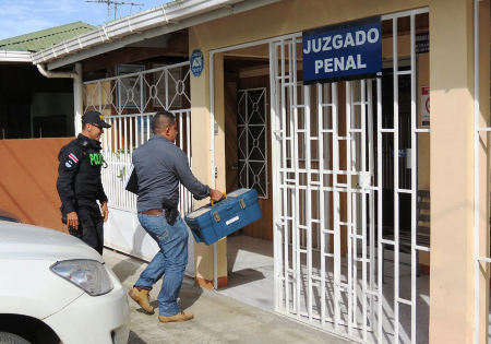 The criminal court judge was arrested on July 24 in Liberia, Guanacaste.