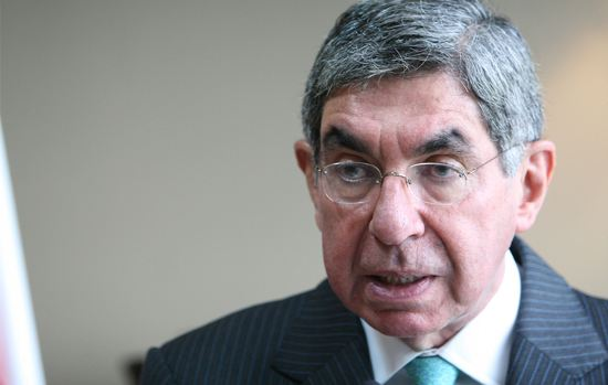 Former president Oscar Arias.