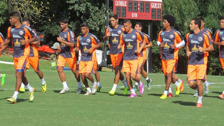 Costa Rica's national team traning ahead of Wendesday's game against Nicaragua.