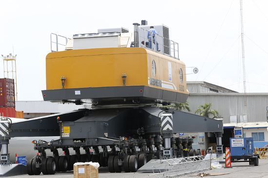 New crane will double the unloading process.