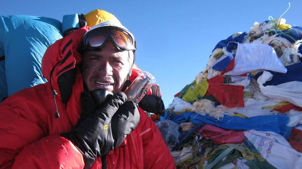 Costa Rican mountaineer Warner Rojas