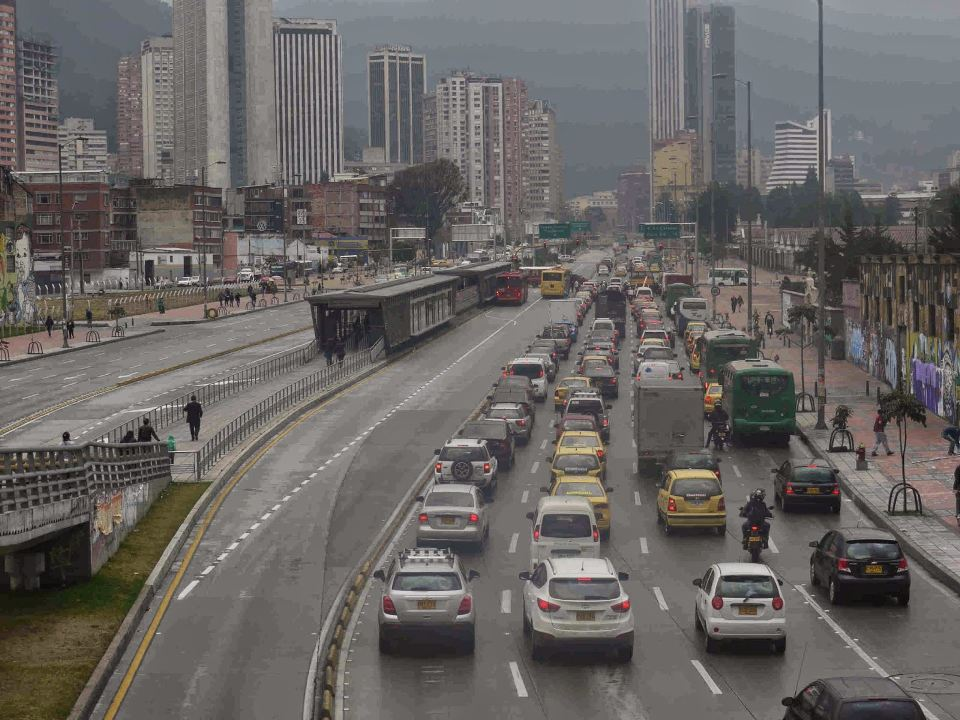 Calle 26 on a normal afternoon in Bogota, Colombia's capital city