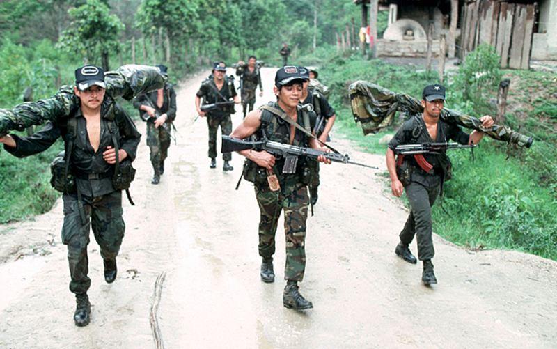 Nicaraguan Contra Rebels at a secret base inside Honduras during 1983 Photo: © Greg Mathieson/REX