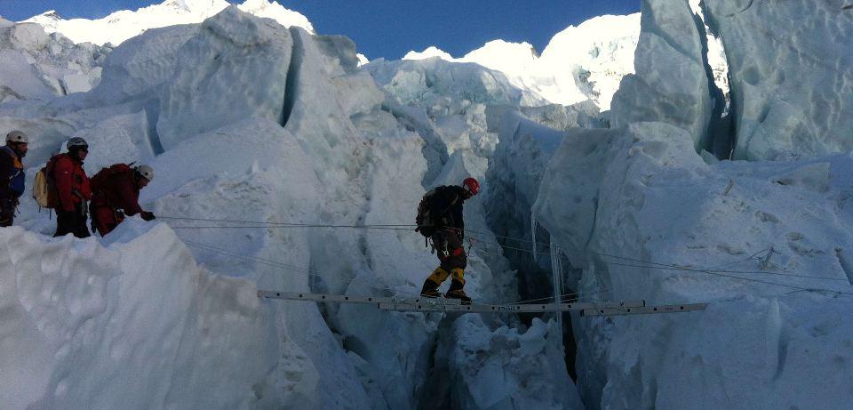 Rojas during his Everest climb. Photo: Facebook