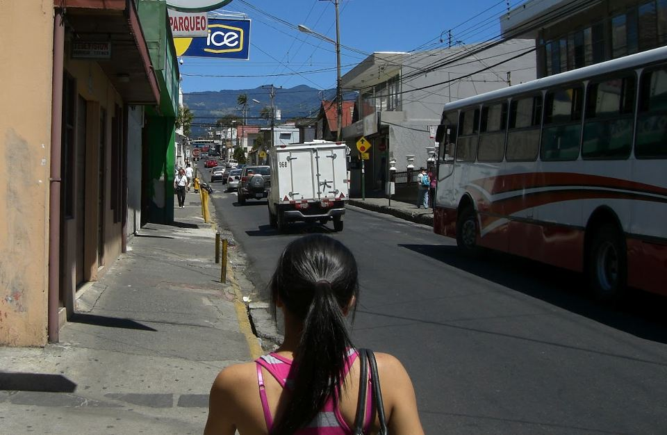 The downtown streets of Heredia.