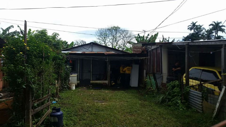 The house where the family rented the room shared by the three children, their father and grandmother.