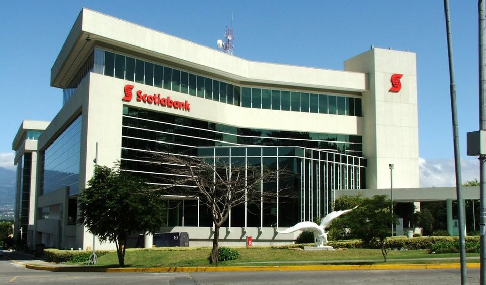 Scotiabank head office in Costa Rica located in La Sabana. The bank is the largest private bank in the country, employing 1.200 people.