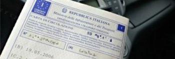 Italian vehicle circulation permit.