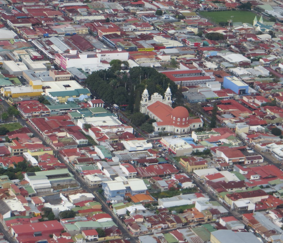 """""""As you leave San Jose, you can catch a glimpse of the Cathedral de Alajuela (Costa Rica)"""""""