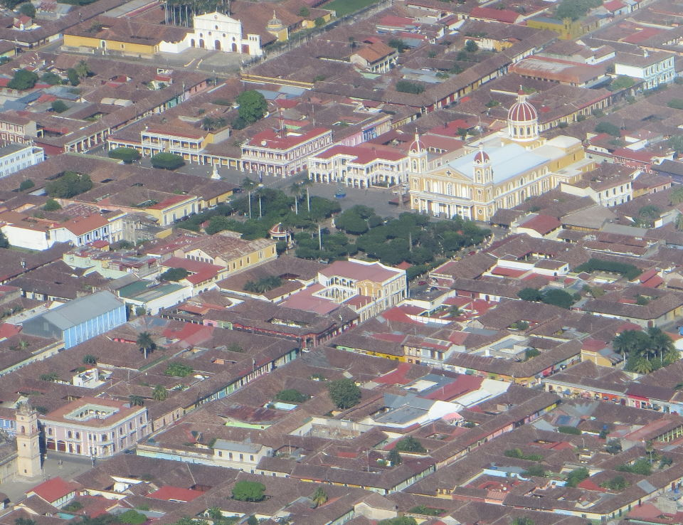 """""""Granada's famous yellow Cathedral from the air."""""""