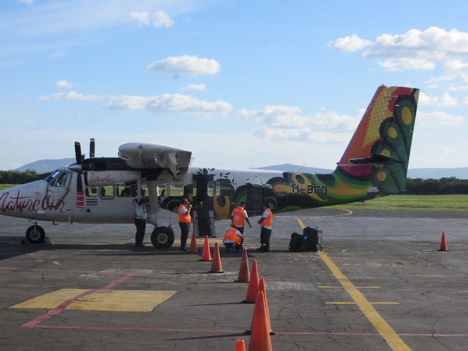 """""""One of Nature Air's """"Twin Otter"""" planes used for the San Jose to Managua flights."""""""