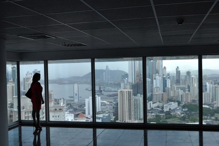 Empty office space in Oceanía Business Plaza in Panamá city. Photo: Kris Hudson/The Wall Street Journal