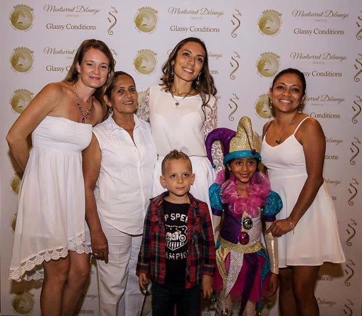 Photos courtesy of Tabanuco - Montserrat Dibango with some of her family members including her son Elijah and niece, Ámbar Juárez Castillo, who danced