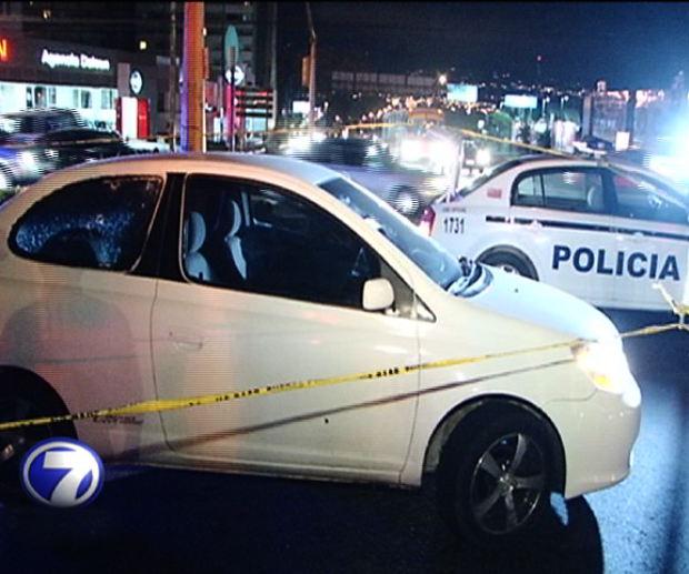 Image of the crime scene from the Telenoticias television cameras