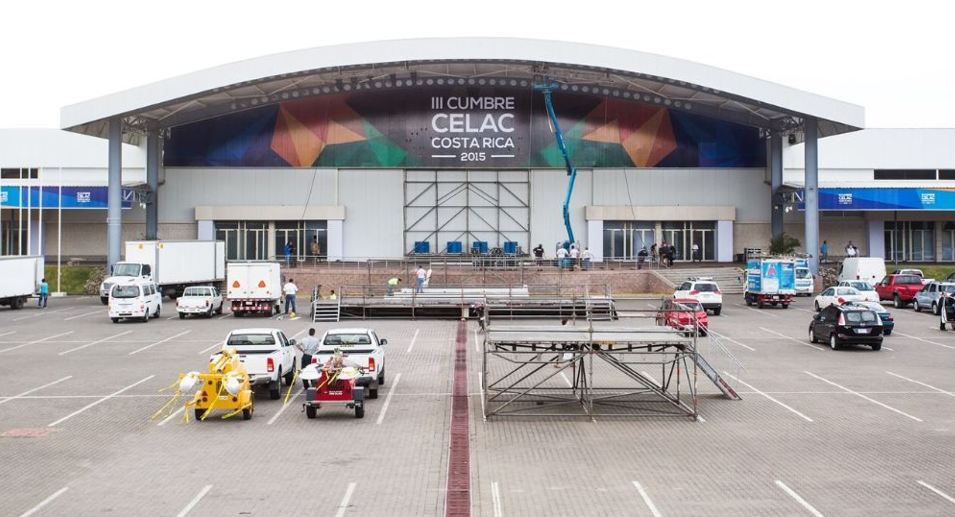 The CELAC summit in Costa Rica is being held at the Pedregal Convention Center in Belén, Heredia.