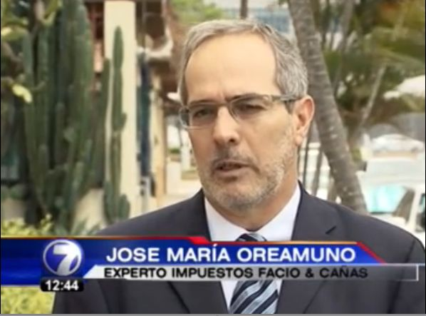 Jose Maria Oreamuno, tax expert at Facio & Cañas. Click here to see the video interview from Telenoticias.