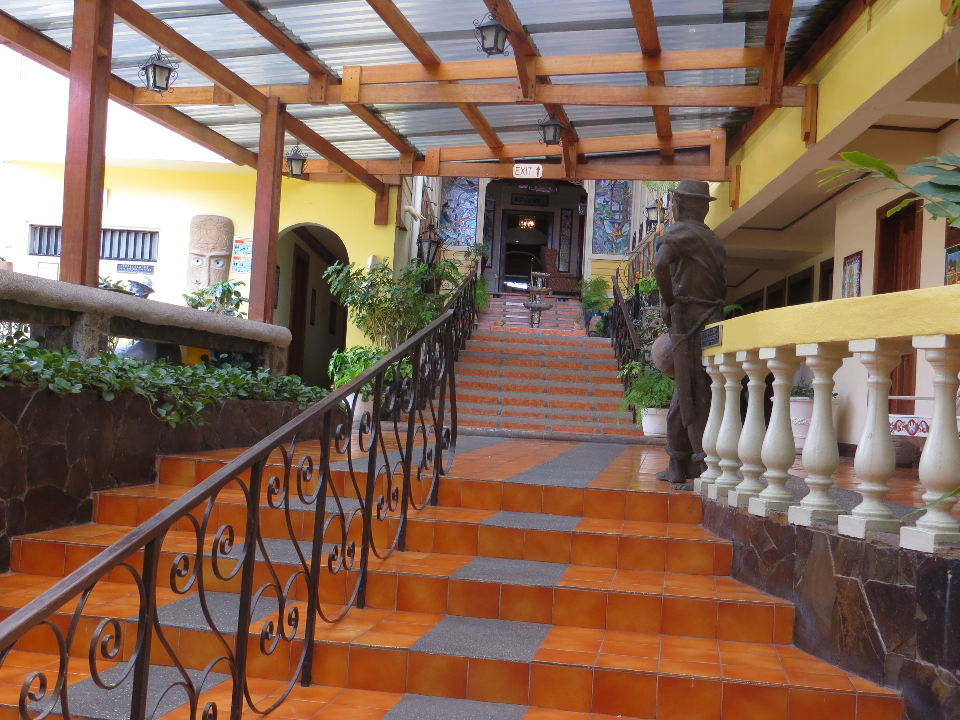 Along the central stairway at Hotel Don Carlos you will see art everywhere. Cheers,