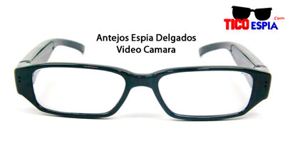 Eyeglasses with a hidden camera. Image from Tico Espia
