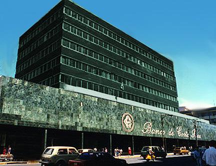 "The Banco de Costa Rica look that gave it the ""banco negro"" monicker."