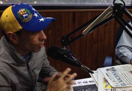 """""""We need to be organized to speak up,"""" Capriles noted (Handout photo: @CaprilesPuntoTV)"""