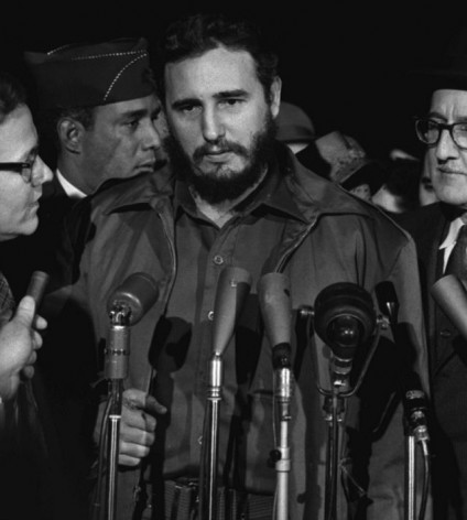 Fidel Castro arrives at MATS Terminal, Washington, D.C., Apr. 15, 1959. Scores of attempts were later made by U.S. intelligence services to kill Cuban leader Fidel Castro, including by hired Sicilian Mafia hitmen. Credit: public domain