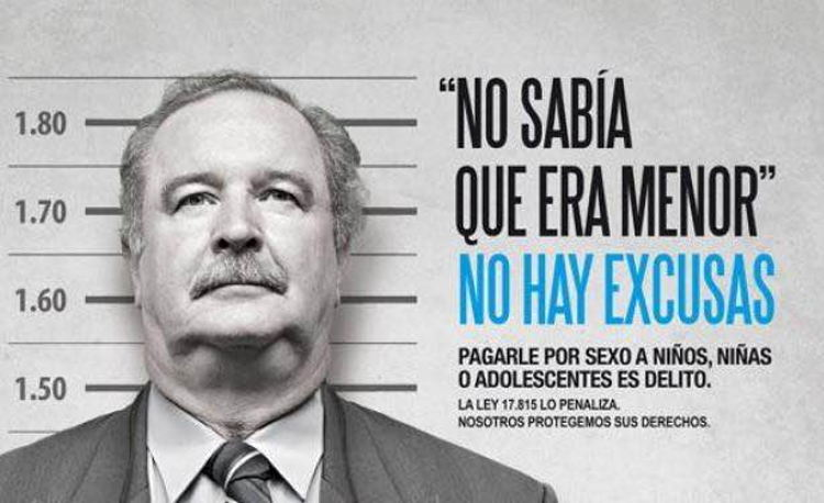 A poster from the No Excuses campaign, organised by Conapees, el Instituto del Niño y Adolescente del Uruguay and Unicef. Photo courtesy of Conapees