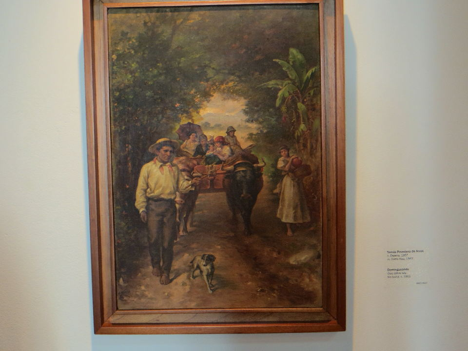 A family in their Sunday best on the way to Mass and to visit friends. By Tomas Povedano, a native of Spain who became an art professor at the University of Costa Rica
