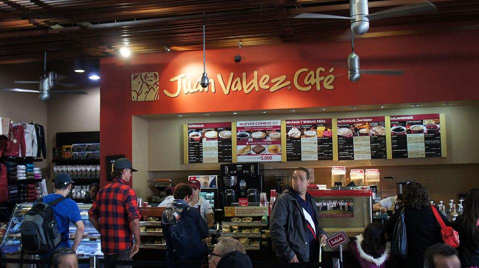 Juan Valez coffeehouse in Bogota, Colombia