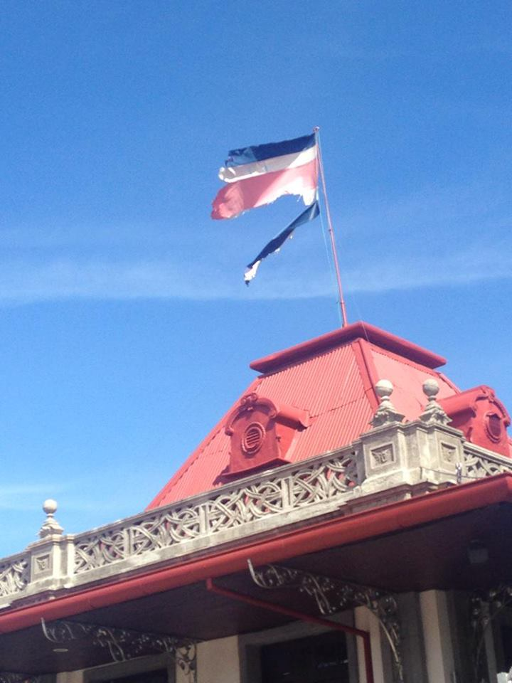Torn Flag Flies Proudly? Atop Atlantico Train Station