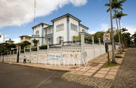Costa Rica San Jose Avenida central Casa Azul oldest of Legislative Assembly buildings
