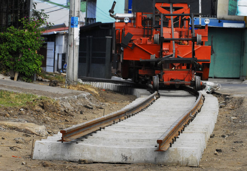 The repair of the railway line to get to Alajuela continue in the vicinity of San Joaquin in the canton of Flores, Heredia. In this community Incofer arriving in April, when fulfilled the first stage en route to Alajuela. | MARIO ROJAS.