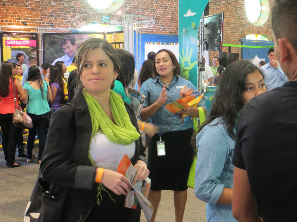 Nury Mora-Vargas was among the thousands of bilingual candidates who visited the CINDE Job Fair in San José this weekend. Photo Michael Miller, QCostarica