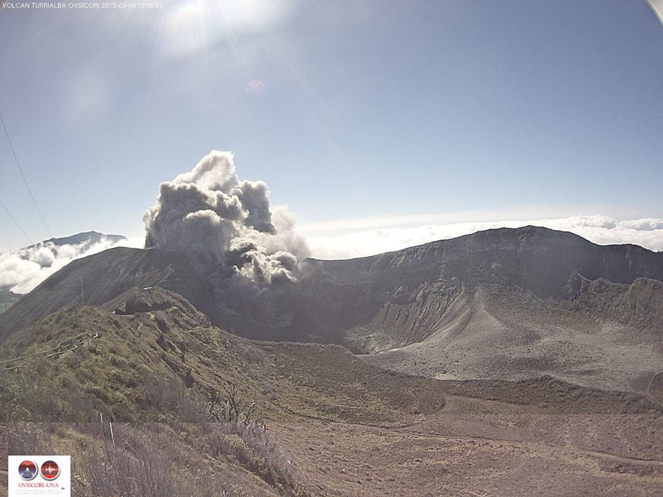 Turrialba on March 8, 2015