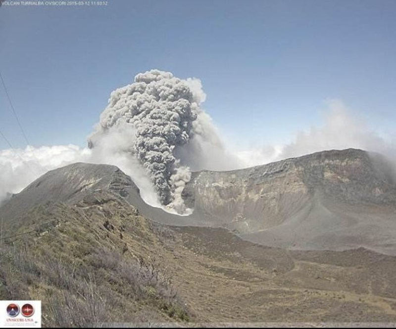 Turrialba Volcano Ashes Could Reach San José and Heredia, Alerts The OVSICORI