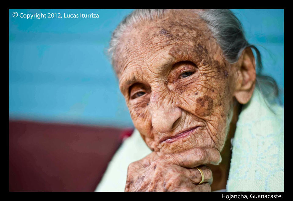 103 years old Doña Pastora, in Hojancha, Guanacaste.