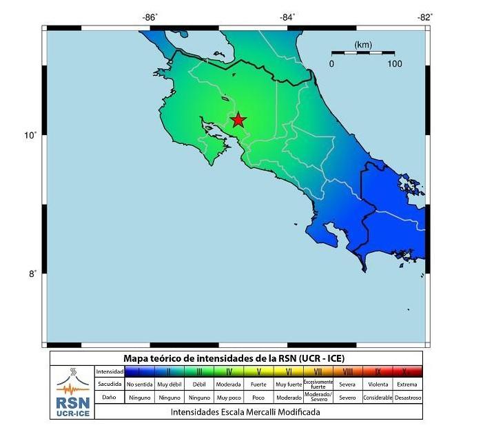 Early Morning Earthquake Rocks Costa Rica