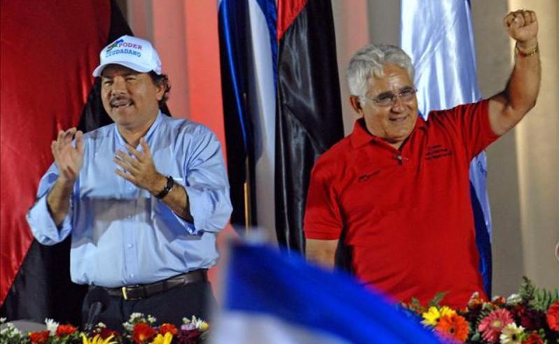 Nicaraguan President Daniel Ortega (left) and Eden Pastora (right)