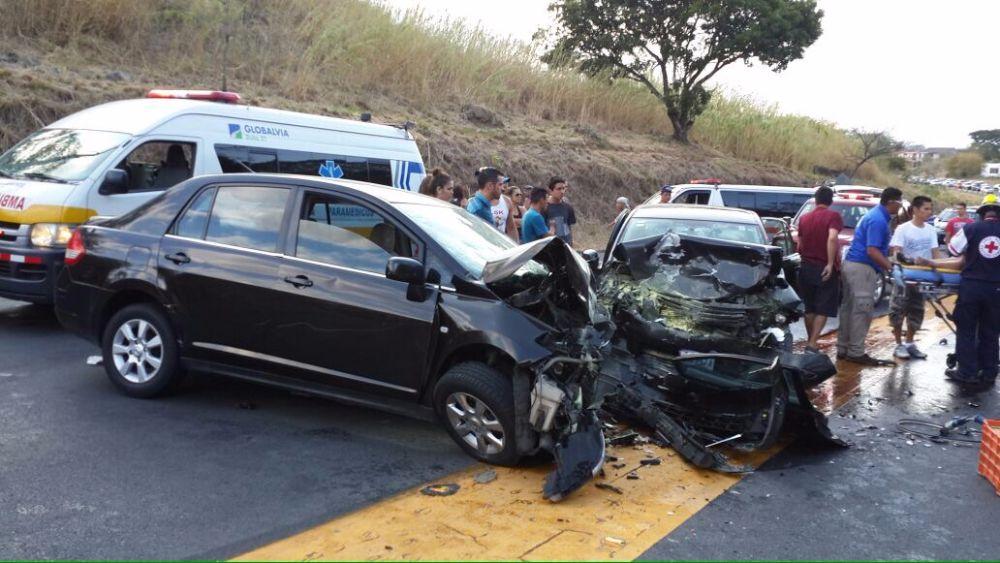 The accident scene last Friday.