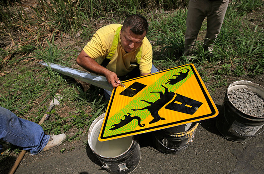 New Traffic Sign To Alert Animal Crossings