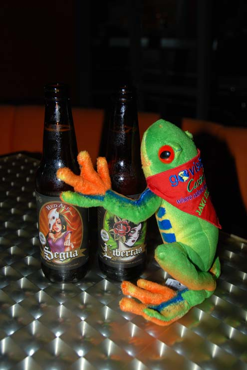 Javi the Frog with Segua and Libertas Beer