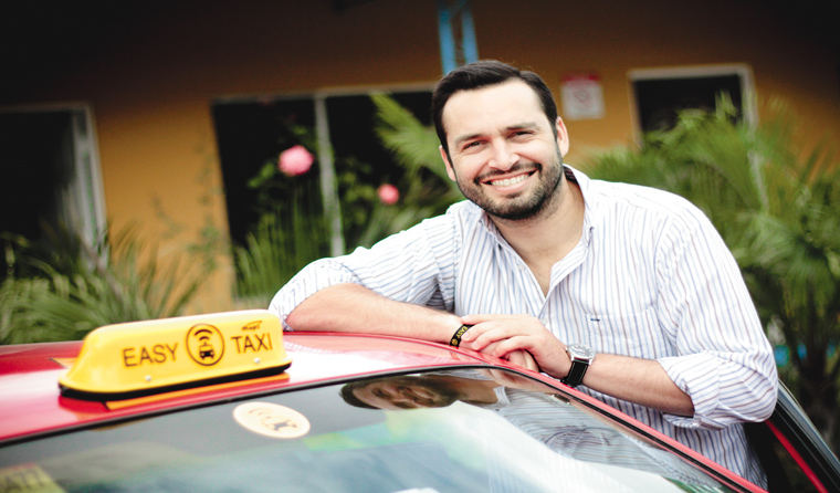 """Good news is that users are increasingly willing to choose innovative forms of transport from their mobile devices,"""" said Randall Cottin, country manager of Easy Taxi Costa Rica. GERSON VARGAS / THE REPUBLIC"""
