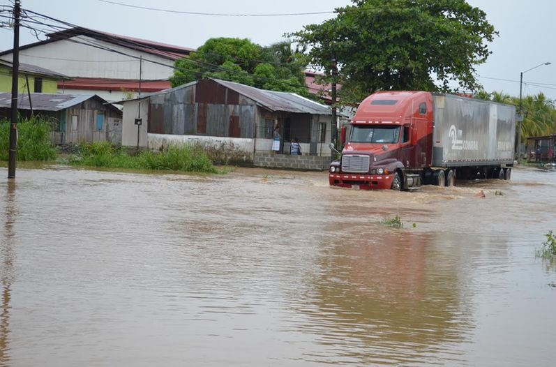 For the third day straight parts of Limon are under water