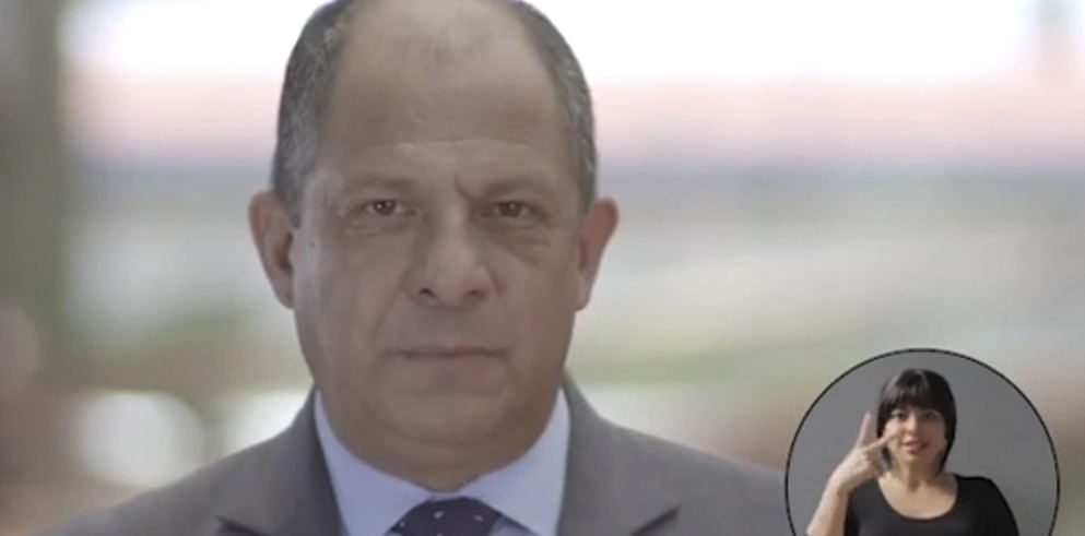 President Luis Guillermo Solis in a message to the nation Sunday night.