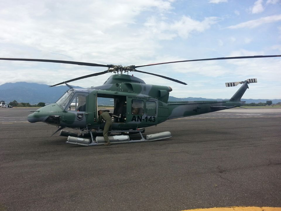 The government of Panama sent a helicopter and crew to assist Costa Rica officials in the emergency in the Caribbean